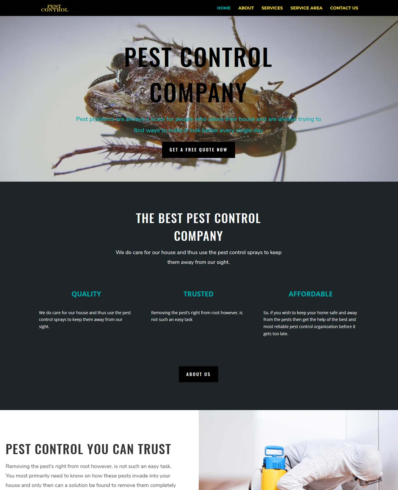 Pest Website Sample Design 2