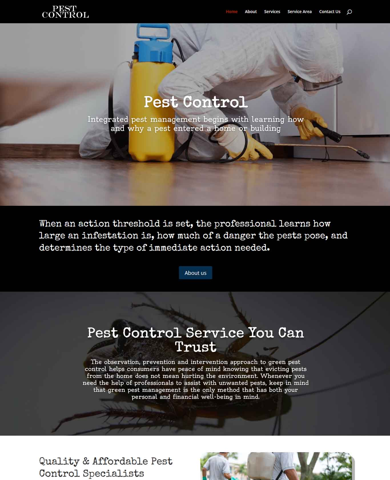 Pest Website Sample Design 4